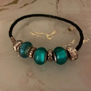 Michael Hill Corded Bracelet with Glass Beads